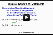 Conditional Statements Part 1 Video Link