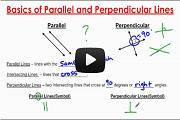 Basics of Parallel and Perpendicular Lines - Part 1 Video Link