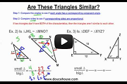 Similar Triangles Part 1 Video Link