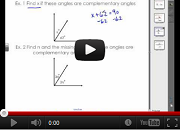 Complementary and Supplementary Angles Video Link
