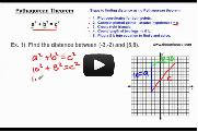 Distance using Pythagorean Theorem Video Link