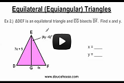 Equilateral Triangles Video Link