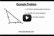 Isosceles Triangles Video Link