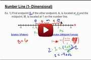 Midpoint - Finding an Unknown Endpoint on a Number Line Video Link