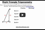 Right Triangle Trigonometry Part 2 Video Link