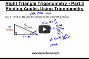 Right Triangle Trigonometry Part 3 Video Link