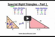 Special Right Triangles Part 1 Video Link