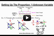 Similar Triangles Part 2 Video Link