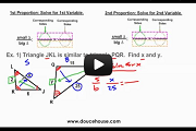 Similar Triangles Part 3 Video Link