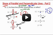 Slope of Parallel and Perpendicular Lines - Part 2 Video Link