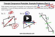 Triangle Congruence Postulates Hard Example Problems Video Link