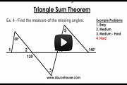Triangle Sum Theorem Video Link