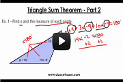 Triangle Sum Theorem Part 2 Video Link